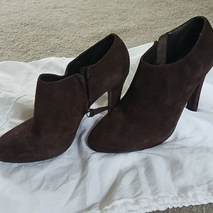 Ralph Lauren Brown Suede Booties